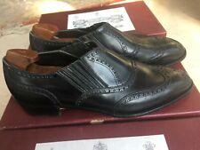 John lobb black wing tip style men shoes 43 euro 9.5uk RRP£1500