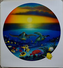 WYLAND SEA TURTLE REEF LITHOGRAPH SIGNED #740/950 W/COA STUNNING