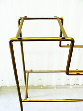 antikes Regal Bücherregal Metallregal Raumteiler display brass tube shelf 30's