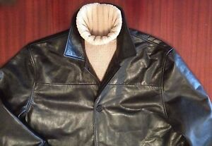 New Black Leather Jacket Heavy-Duty Cowhide Single Breasted Men's L