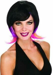 Rubie's Costume Colorful Streaks Adult Costume Wig, Purple/Pink, One Size