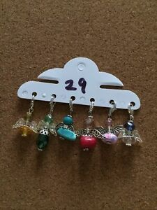 6 Assorted Handmade Angel Charms On Lobster Clasp