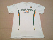 INV637- Ireland Soccer T Shirt S Small Football Futbol White Green EUC World Cup