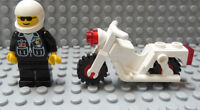 LEGO Classic Town Motorcycle with Red Wheels and Police Office