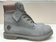 Womens Timberland Premium 6 Inch Boots, Gray / Bronze A1Jg8 New in Box