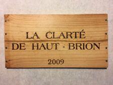 1 Rare Wine Wood Panel La Clarté De Haut Brion Vintage CRATE BOX SIDE 4/18 498