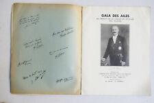 French Gala Des Ailes Program 1933 Autographs Pilot Relief Fund Albert Lebrun