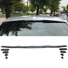 Universal Fitment Top Roof Spoiler Wing Adjustable Carbon Fiber Look