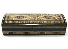 Vintage Wooden Trinket Box Hand Carved Wood Chest Handmade Jewelry Storage - Lid