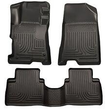 Husky Liners WeatherBeater Floor Mats - 3pc- 98811- Fits Kia Sorento 11-13-Black