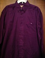 WRANGLER Mens - 20X - Long Sleeve Shirt - Sz XL Purple Western NEW Button Down