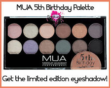 MUA EYESHADOW PALETTE 5TH BIRTHDAY PALETTE SMOKEY EYE BASE NUDE LIMITED EDITION