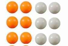 New Pack Of 12 Plain Orange White Pin Pons Uned Table Tennis Balls