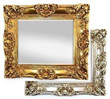 Wandspiegel Spiegel Barock Antik Vintage Facettenschliff Rokoko Shabby Massiv