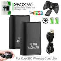 2-Pack for xBox 360 Controller Battery Pack Rechargeable Power Set + USB Cable