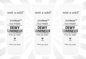 3 Wet N Wild Photo Focus Dewy Face Primer Till Prime Dew Us Part 858A
