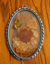 STAINED GLASS Dried Flowers w/Butterfly MADE IN USA by Lasting Impressions