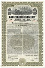 Great Northern Railway Company Bond Certificate