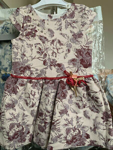 Blue / Navy /Burgundy Girls Dress for 5 6 7 8 Years Old | Embroidered |50%Cotton