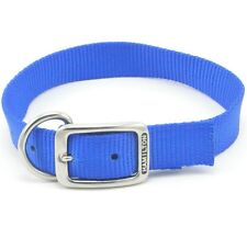 "HAMILTON ST Nylon Dog Collar, 18"" x 1"", Blue"