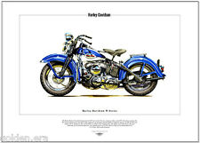 HARLEY-DAVIDSON  W-SERIES - Fine Art Print - Classic American US Motor Cycle WLD