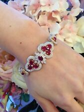13.50 ct Ruby and Diamond Bracelet in Platinum/18k Yellow Gold - HM1214N2