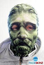 3D Efecto Cara Piel Lycra Tela De Piedra Verde Cara Máscara Halloween lsprints