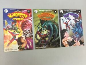 Mr. Monster Attacks 1-3 Complete Set 1 2 3 Tundra Comics 1992