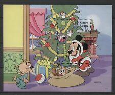 Walt Disney, Weihnachten - Sierra Leone - 1 Bl. ** MNH 1992
