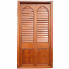 Large Antique Anglo Indian Teak Louvered Double Door 19th century