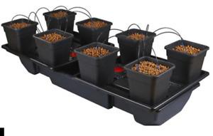 Wilma XL Wide 8 pot 18L Complete Hydroponics Dripping Growing System kit 190x90