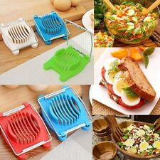 Egg Slicer Cutter Stainless Steel Home Peeler Cut Chopper Lovely Fruit Tool