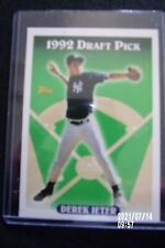 TOPPS DEREK JETER 1992 DRAFT PICK ROOKIE CARD #98 RC