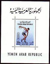 Yemen 1964 ** Bl.27 Olympische Spiele Olympics Diskus