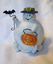 Seasons of Cannon Falls Resin(?) Halloween Ghost Taper Candle Holder