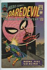 1966 MARVEL DAREDEVIL #17 SPIDER-MAN APPEARANCE STAN LEE STORY FN/VF   S2