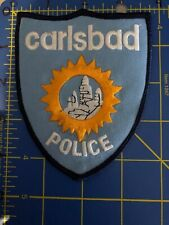 Vintage Carlsbad Police Patch Shield Badge California CA Caverns New Mexico NM