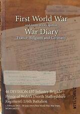 46 DIV 137 Inf Bde Prince of Wales's N Staffs Rgt 1/6 Bat 1 Feb 1915 - 30 Jun 19