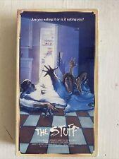 THE STUFF VHS 80's comedy Horror Sci-Fi Starmaker slipcase New World tape GORE