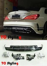 CLA45 AMG Style Rear Bumper Diffuser Kit For Mercedes CLA AMG