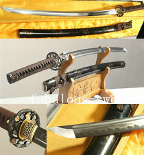 41'DAMASCUS  FOLDED STEEL CLAY TEMPERED VERY SHARP JAPANESE SAMURAI SWORD KATANA