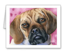 Puggle Set of 10 Note Cards With Envelopes