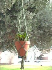 Macrame Plant Hanger 36 in Vintage **GREEN**