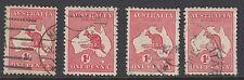 AUSTRALIA :1913 1d Die 1x2 shades,Die II & IIA SG 2,2b,2d,2e   used