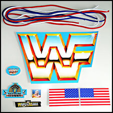 ♛ WWF HASBRO FULL REPLACEMENT STICKER SHEET +NEW RING ROPES WWF DECAL STICKERS ♛