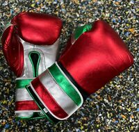 Custom Shine Boxing Gloves Strap Gloves for Training,Sparring And Competition