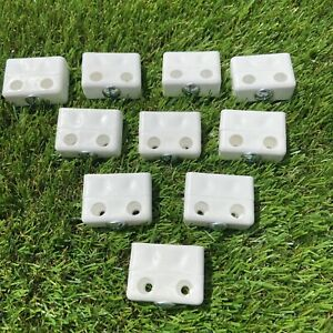 10 x  2pc Heavy Duty Knockdown Fittings Connector Modesty Jointing Block