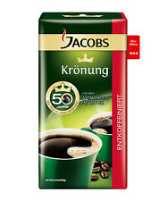 Jacobs Kronung Ground Coffee Decaffeinated Vacuum Pack 500 g 17.63 oz New