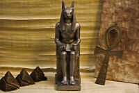 Exquisite Handmade Silver Anubis Jackal Head Statue Sculpture God of death Inpu