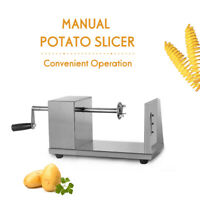 Manual Twister Fries Spiral Potatoes Cutter Stainless Stain Vegetable Slicer